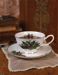 Holly And Ivy Teacup & Saucer