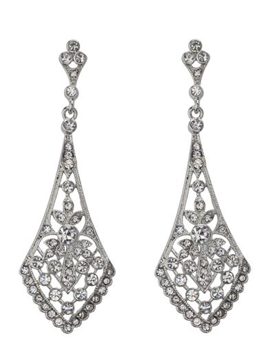 1920s Gatsby Jewelry- Flapper Earrings, Necklaces, Bracelets Chandelier Earrings $19.95 AT vintagedancer.com