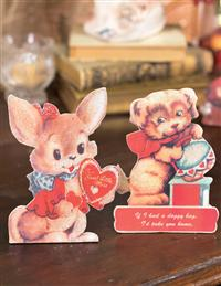 Valentines Of Yesteryear Easel Boards (Pair)