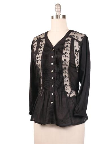 1920s Style Blouses, Shirts, Sweaters, Cardigans Poetess Shirtwaist Burgundy SmallMedium $39.95 AT vintagedancer.com