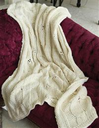 Hand-knit Sweater Throw
