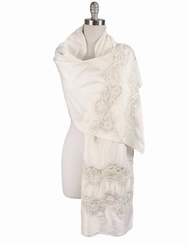 Vintage Scarves- New in the 1920s to 1960s Styles Ivory Grace Silken Scarf $79.95 AT vintagedancer.com