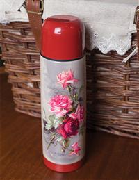 Warm Hearts Floral Thermos