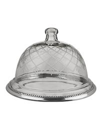 Etched Glass Dessert Dome