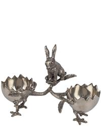 Curious Rabbit With Egglet Bowls