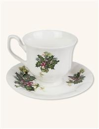 Holly English Bone China Cup & Saucer