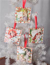 Cherub Valentine Ornaments (Set Of 4)