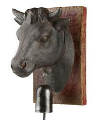 Serene Bull And Bell Wall Decor