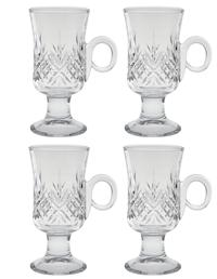 Shannon Cut Crystal Irish Coffee Mugs (Set Of 4)