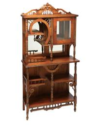 Good Walnut Victorian Curio