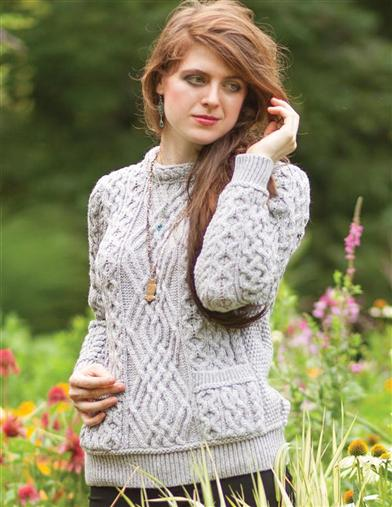 1960s Style Sweaters & Cardigans Knit In Ireland Creamed Honey Pocket Sweater $119.95 AT vintagedancer.com