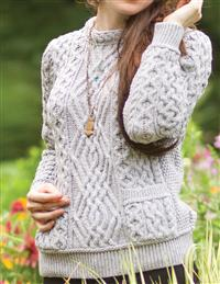 Knit In Ireland Creamed Honey Pocket Sweater