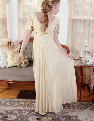 Edwardian Ladies Clothing – 1900, 1910s, Titanic Era April Cornell Antique Elegance Gown $99.99 AT vintagedancer.com