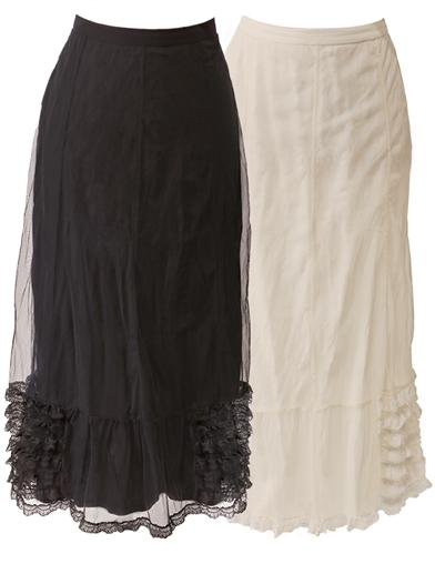 Edwardian Style Skirts Layers Of Ruffles Skirt $79.95 AT vintagedancer.com