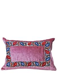 April Showers Pink Velvet Cushion