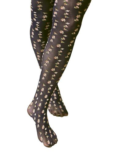 Steampunk Tights  & Socks Petite Posies Tights $9.95 AT vintagedancer.com