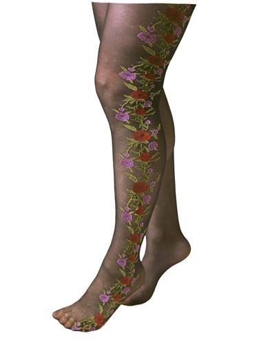Steampunk Tights  & Socks Demure Fleur Tights $9.95 AT vintagedancer.com