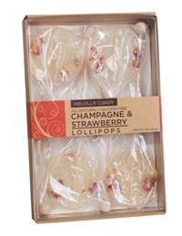 Champagne & Strawberry Lollipop Set