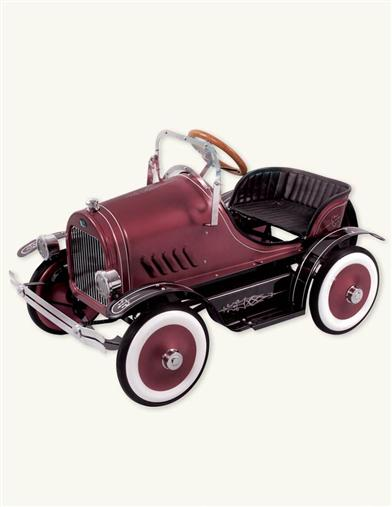 LIMITED EDITION BURGUNDY PEDAL CAR