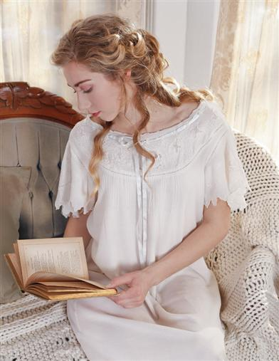 April Cornell Angel-sleeved Nightgown