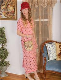 April Cornell Rosebuds Pink Dress