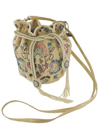Edwardian Accessories Mary Frances Floral Dawn Beaded Reticule $228.00 AT vintagedancer.com