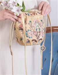 Mary Frances Floral Dawn Beaded Reticule