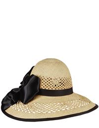 Louise Green Satin-bowed Straw Hat