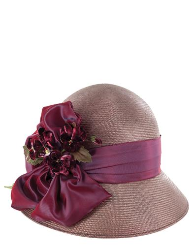 Louise Green Pansy Straw Hat