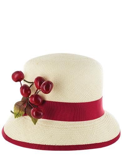 1950s Style Hats for Sale Louise Green Cherry-On-Top Millinery $219.95 AT vintagedancer.com