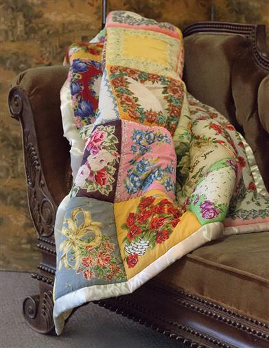 Vibrant Handkerchief Throw