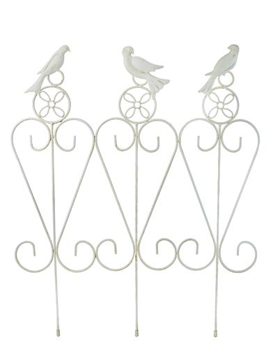 French White Song Bird Garden Rail