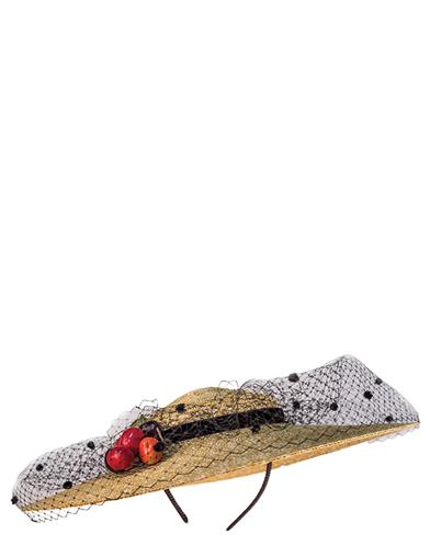 1940s Style Hats Cherry Tart Straw Hat $119.95 AT vintagedancer.com