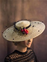 """Cherry Tart"" Straw Hat"