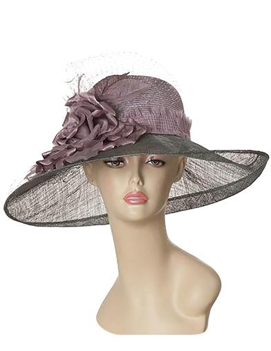 Ladies Tea Party Hats- Victorian to 1950s styles Louise Green Lavender Lady Brim Hat $455.00 AT vintagedancer.com