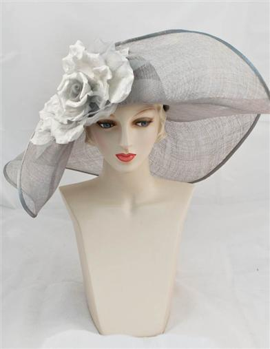 Edwardian Style Hats, Titanic Hats, Derby Hats Louise Green Floppy Hat $395.00 AT vintagedancer.com
