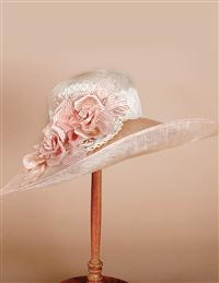 Louise Green Lenora Lace Brim Hat
