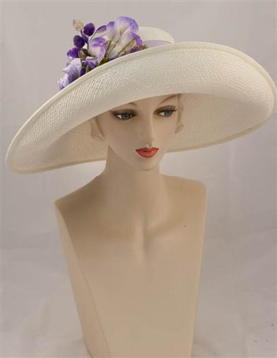 Edwardian Style Hats, Titanic Hats, Derby Hats Louise Green Amethyst Garden Hat $350.00 AT vintagedancer.com