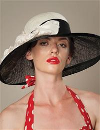 Louise Green Taffeta Summer Picture Hat