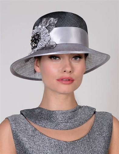 Louise Green Silver Beauty Hat