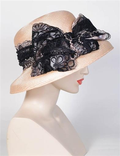 1920s Style Hats Louise Green Eliza Lace Hat $280.00 AT vintagedancer.com