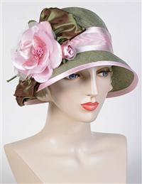 Louise Green Prized Rose Bow Hat