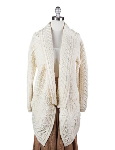 1920s Style Blouses, Shirts, Sweaters, Cardigans Flowing Irish Cardigan $169.95 AT vintagedancer.com