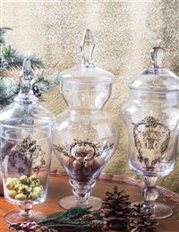 Baroque Apothecary Jars (Set Of 3)