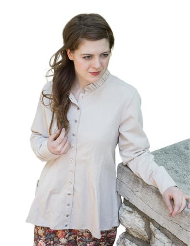 1920s Blouses & Shirts History Blush Corset Jacket $39.99 AT vintagedancer.com