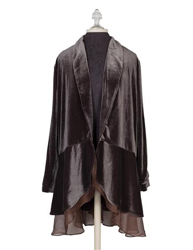 Victorian Jacket, Coat, Ladies Suits | Edwardian, 1910s, WW1 Velvet Holiday Duster $59.95 AT vintagedancer.com