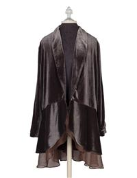 Velvet Holiday Duster