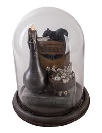 Rat On Books Light-up Cloche