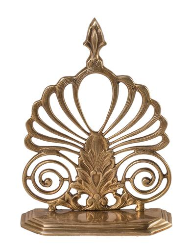 Opulent Brass Bookends