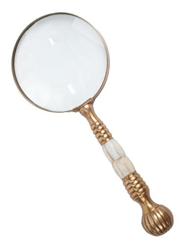 Mother Of Pearl & Brass Magnifier